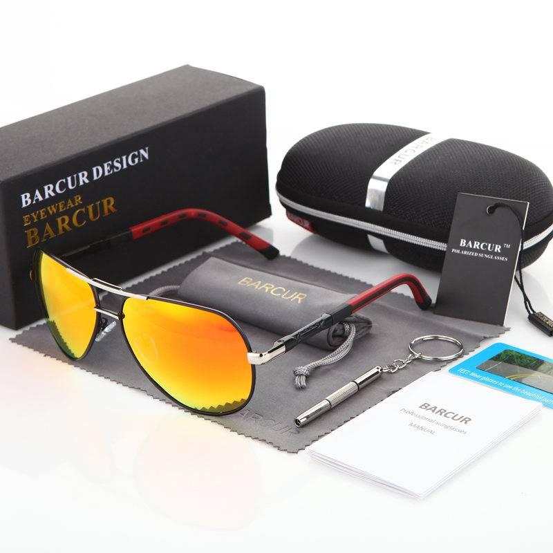 Stylish Sunglasses With Aluminium Frame Men's Sunglasses Sunglasses & Glasses Lenses Color : Blue Silver Black Golden Black Silver Orange Gold Tea Gun Black Gun Night