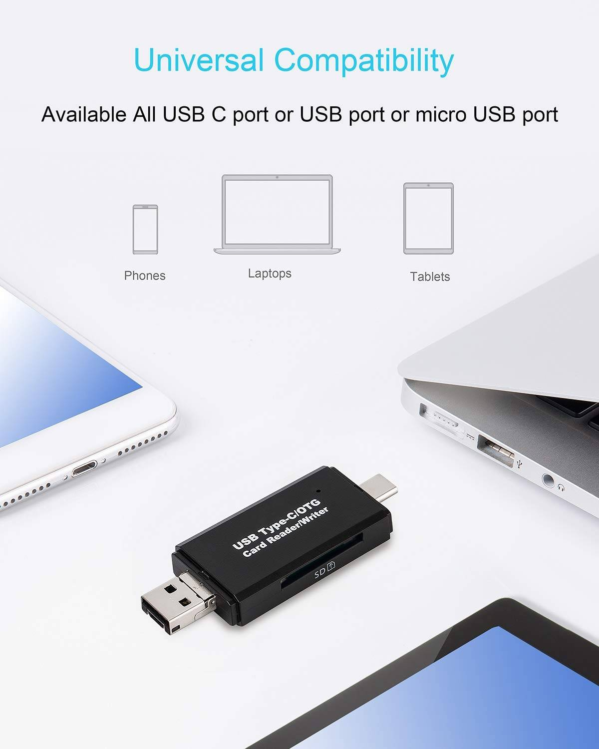 Smart All-in-One Micro SD Card Reader