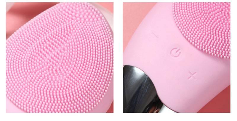 Ergonomic Electric Silicone Facial Cleansing Brush