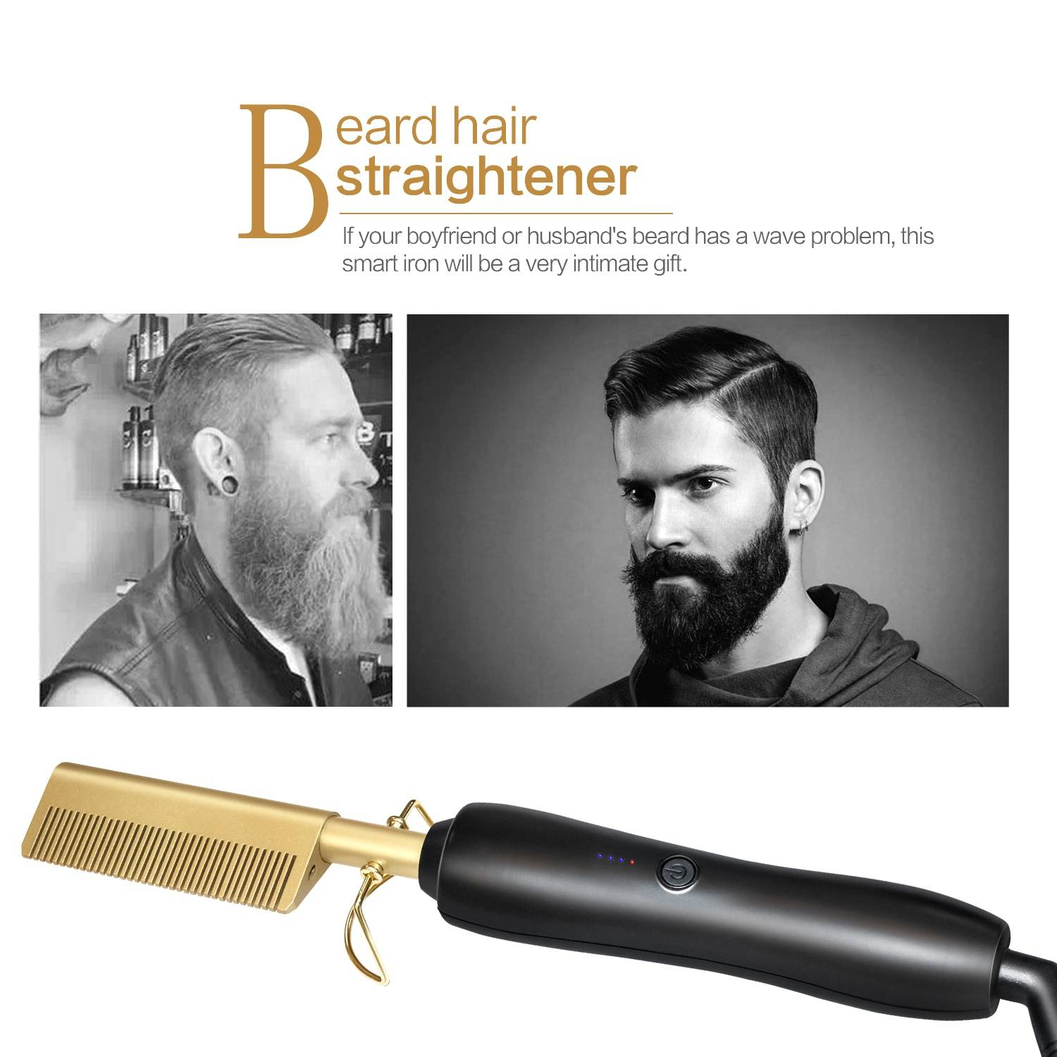 Hair Straightener Heat Comb