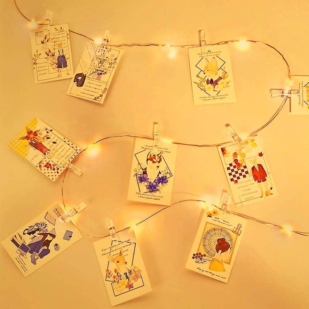 Christmas Long Photo Clip USB LED Lights