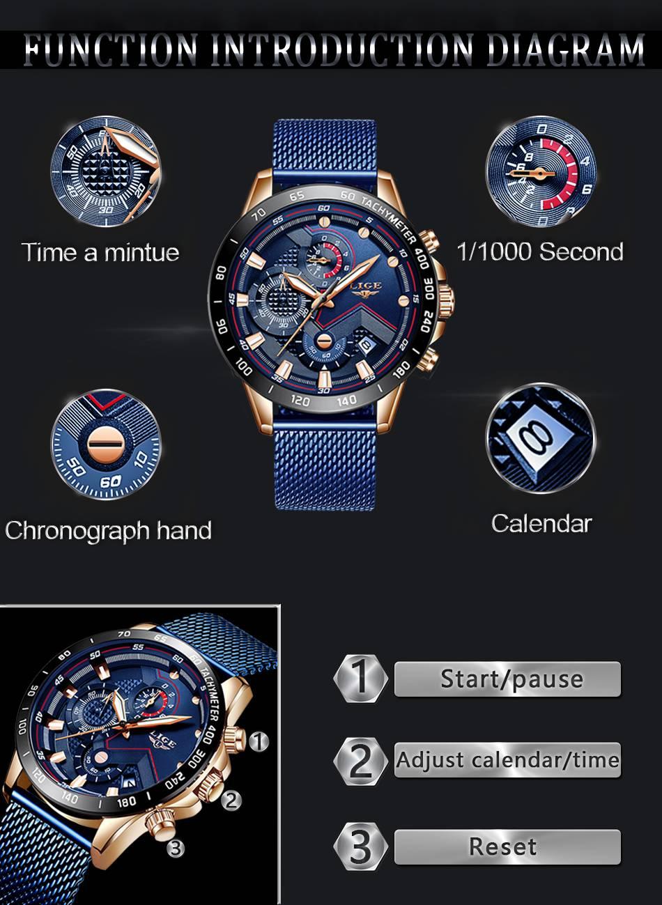 Men's Luminous Waterproof Round Quartz Watch
