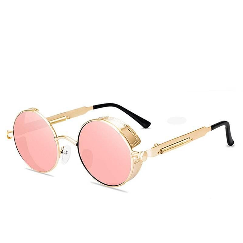 Unisex Steampunk Round Sunglasses
