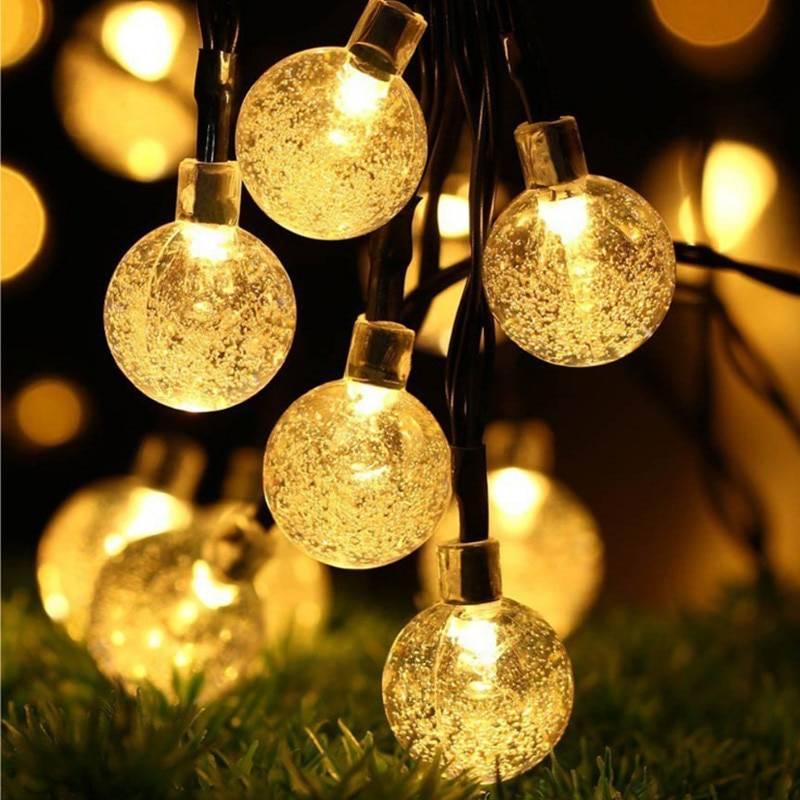 Crystal Ball Solar LED String