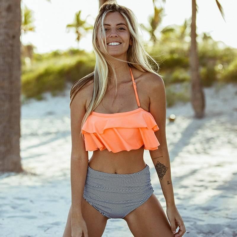 Women's High Waist Push Up Bikini Set