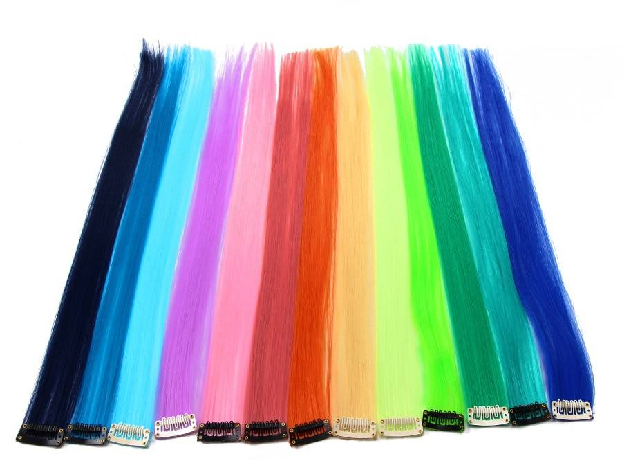 Bright Pre-Colored Clip-In Synthetic Hair Extension