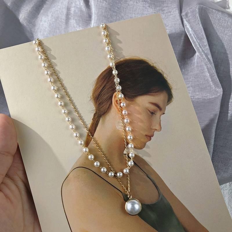 Retro Pearls Choker for Women