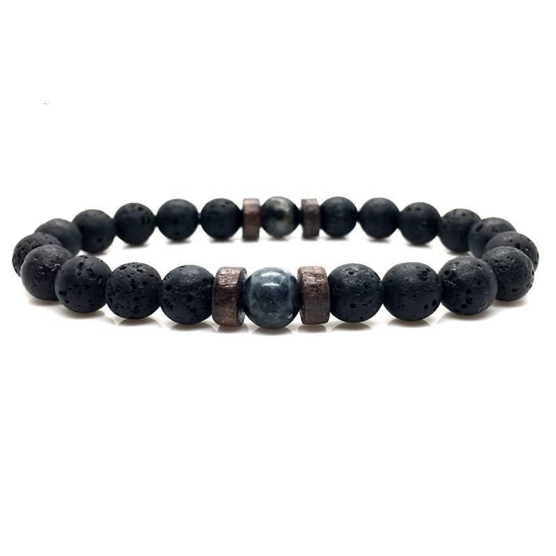 Men's Natural Moonstone Beaded Bracelets