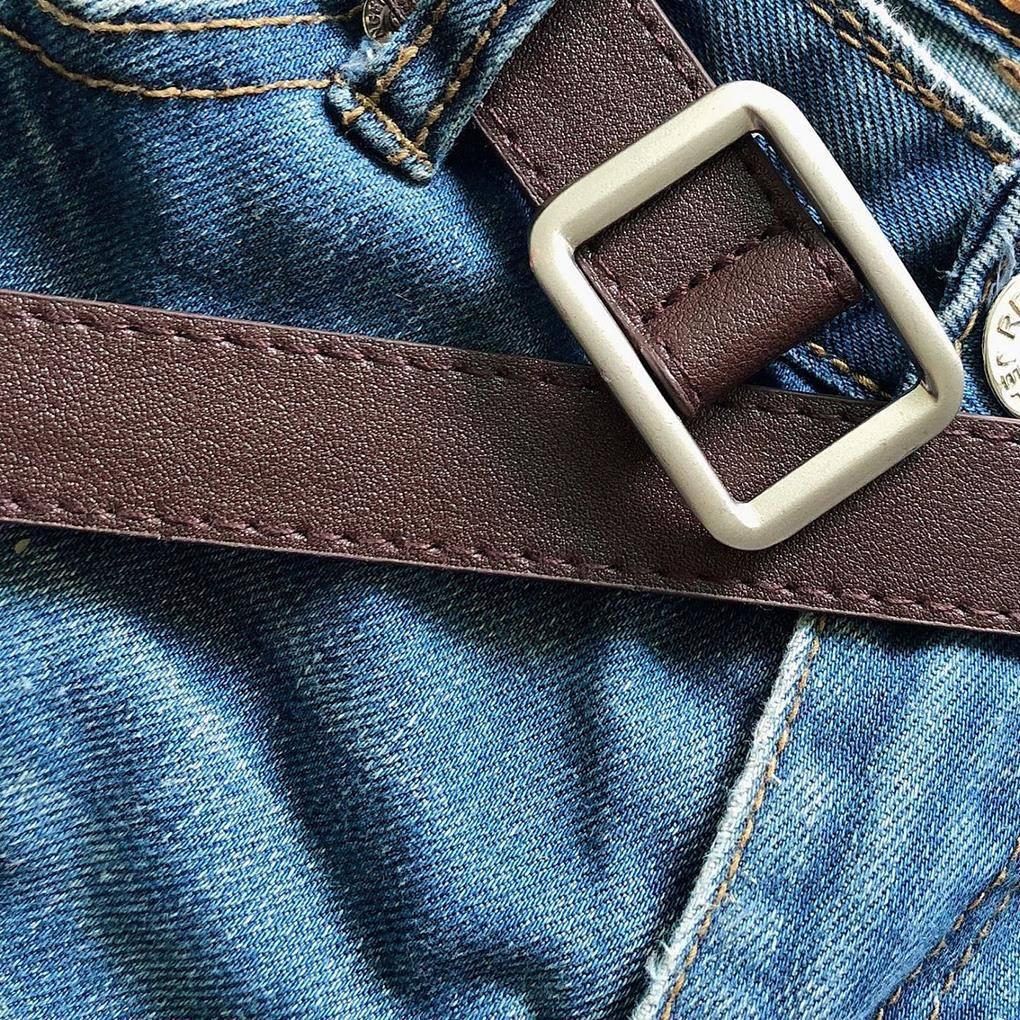 Vintage Square Buckle Women's Belt