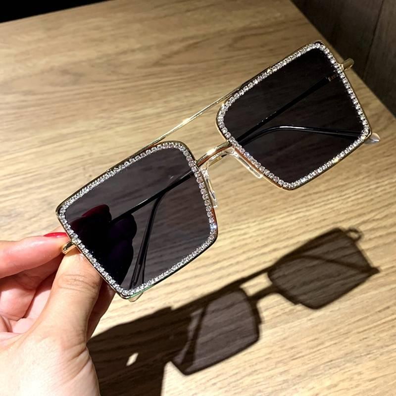 Trendy Transparent Square Sunglasses for Women