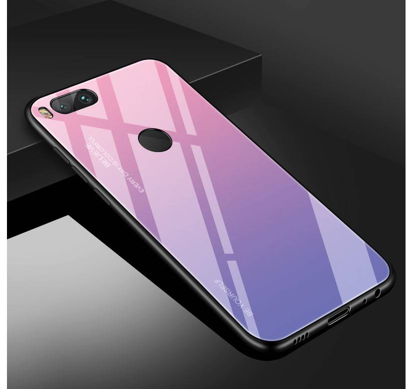 Gradient Color Tempered Glass Case for Xiaomi