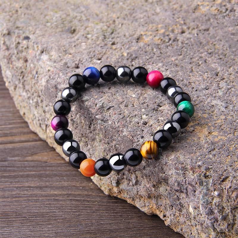 Men's Natural Black Obsidian Beads Bracelet Bracelets Men Jewelry Type : 1|2|3|4|5|6|7|8|9|10|11|12|13|14|15|16|17|18|19|20|21|22|23|24|25