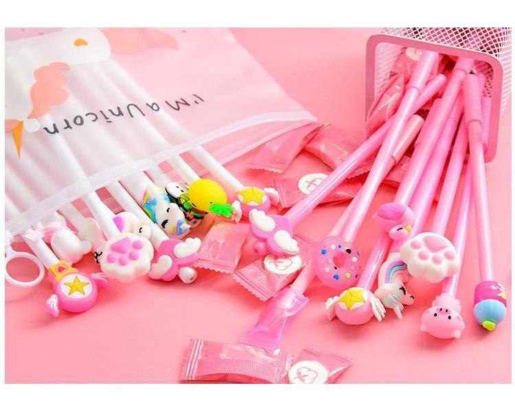 Kawaii Bright Gel Pens 10 pcs Set