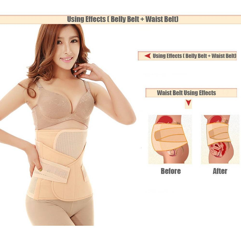 3 in 1 Belly / Abdomen / Postpartum Waist Belt Baby & Mother Care Intimates Maternity Clothing Ships From : China|Russian Federation|Spain|United States