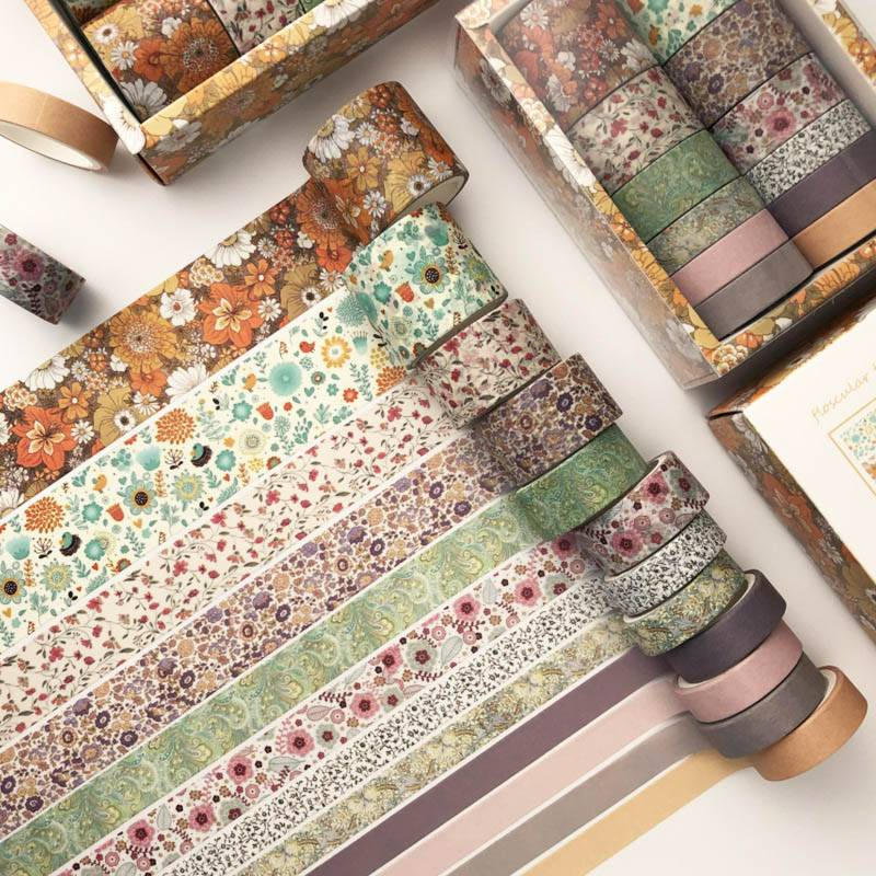 Set of 12 Washi Tapes in Print