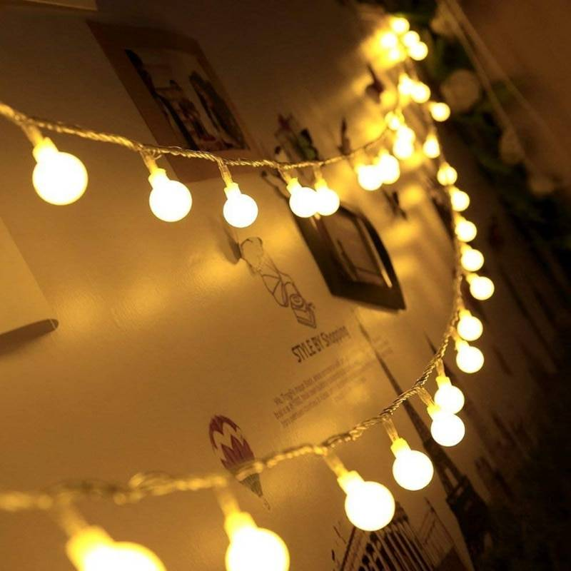 Waterproof LED Ball String Lights