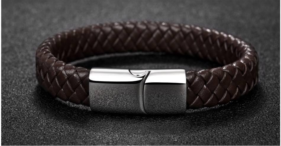 Men's Simple Leather Bracelet
