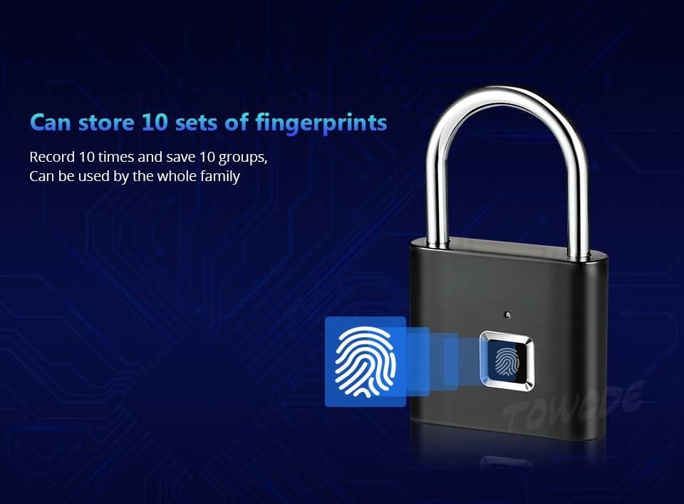 Compact Rechargeable Fingerprint Padlock
