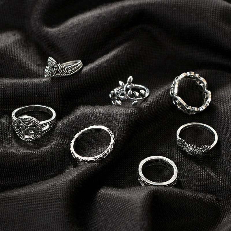 Women's Boho Ring 9 pcs Set