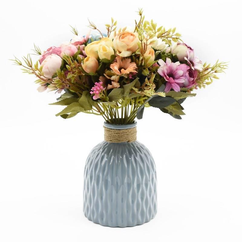 Rose Plant Textile Artificial Flower Artificial & Dried Flowers Home & Garden Color : 1|2|3|4|5|6