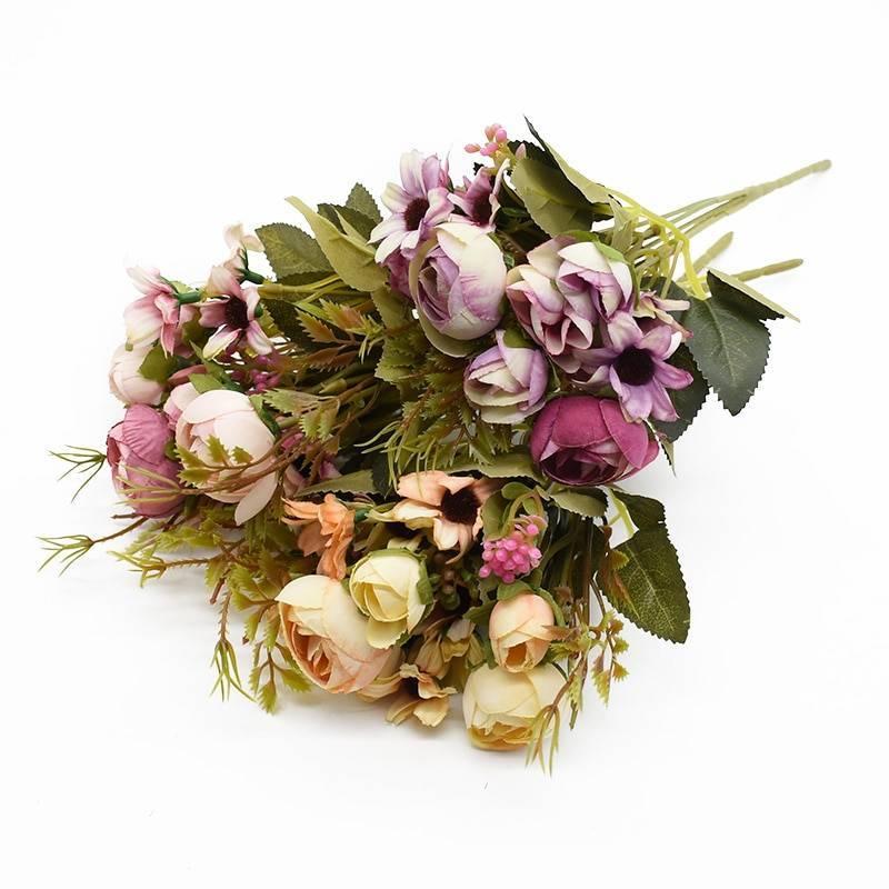 Rose Plant Textile Artificial Flower