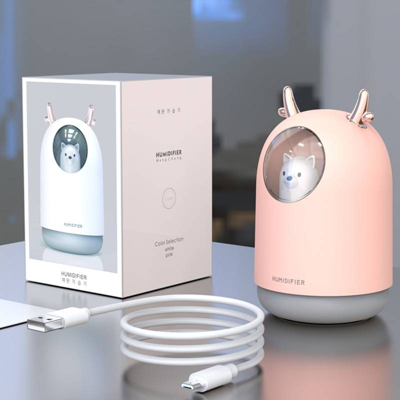 Cute Ultrasonic USB Humidifiers Air Purifiers & Humidifiers Consumer Electronics Home Electronics Color : White Pink White and 5 Filters Pink and 5 Filters White and 10 Filters Pink and 10 Filters