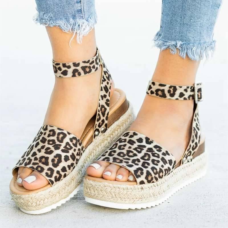 Simple Styled Platform Sandals Women Shoes Women's Sandals Color : Black|Gray|Leopard|Brown|Silver|White|Yellow|Khaki