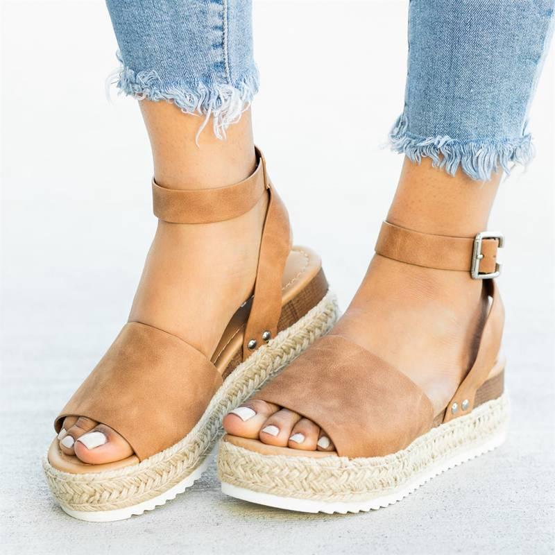 Simple Styled Platform Sandals