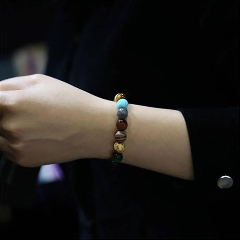 Women's Planet Themed Beaded Bracelet Bracelets & Bangles Women Jewelry Metal Color : 6 cm|Planet|Planet star|lava stone|8 cm|10 cm