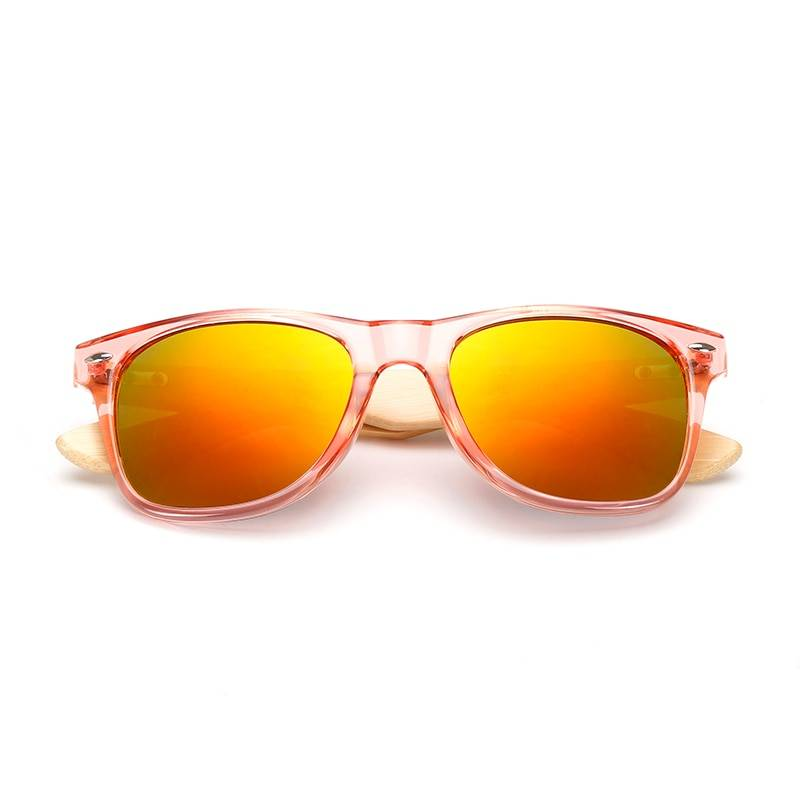 Unisex Colorful Wooden Sunglasses