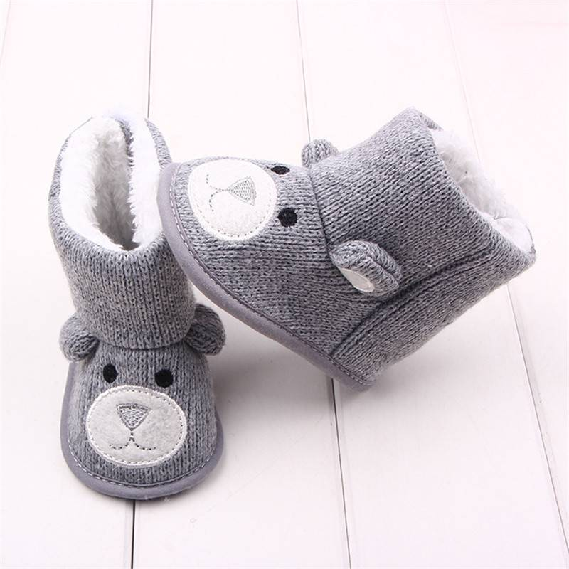 Baby's Warm Soft High Cotton Shoes Baby & Kid's Shoes Baby Boys Shoes First Walkers Color : Brown Gray