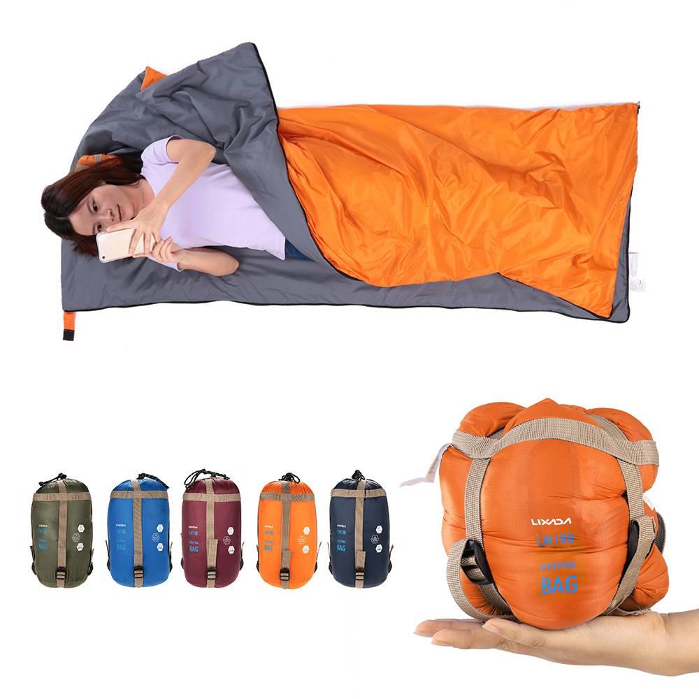 Ultra-light Envelope Sleeping Bag Travel & Outdoor Color : Burgundy|Blue|Orange|Army Green|Dark Blue