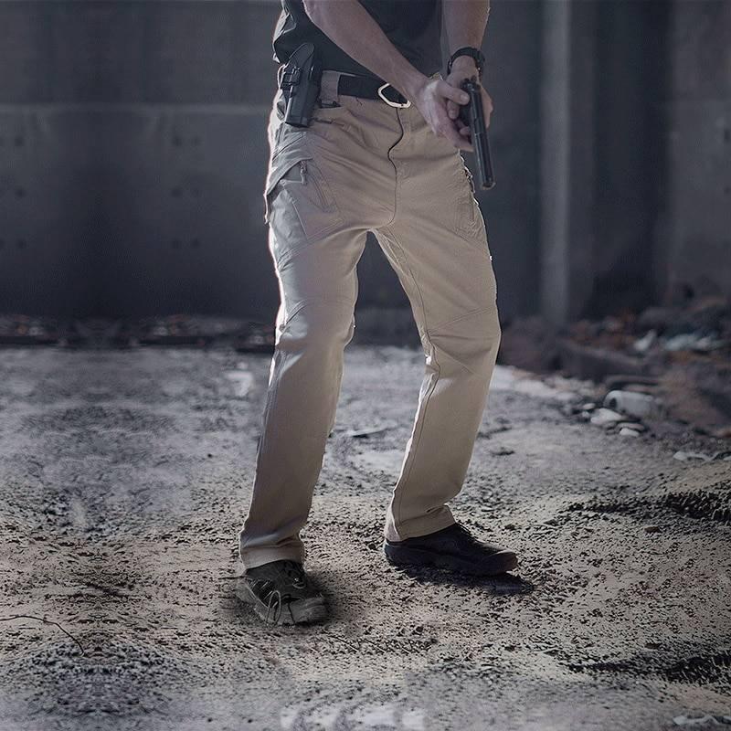 Tactical Flexible Cargo Pants Apparel Color : Black|Gray|Green|Khaki
