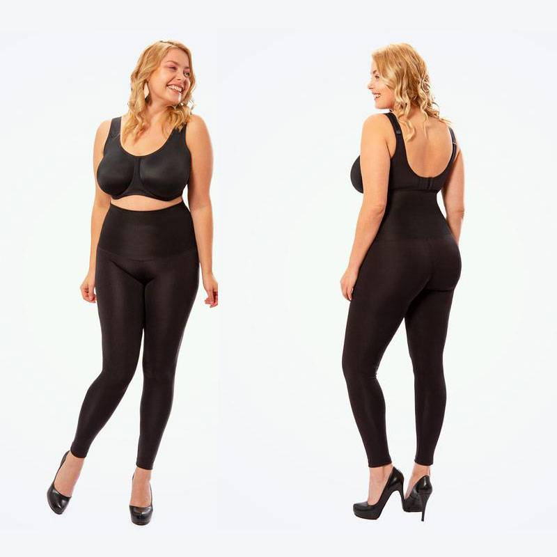 High Waisted Shaping Leggings Apparel Color : Black