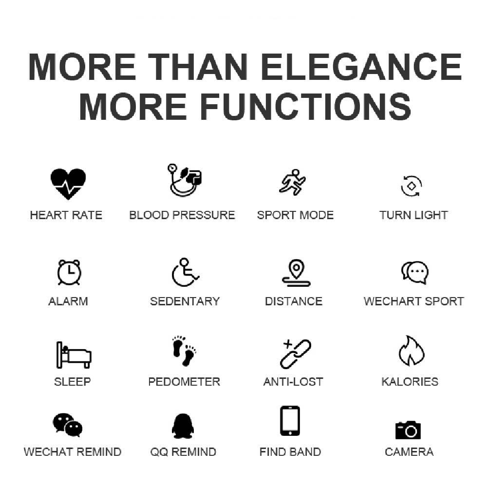 Feminine Beautiful Multi-Feature Smartwatch Accessories Color : Black|Silver|Gold