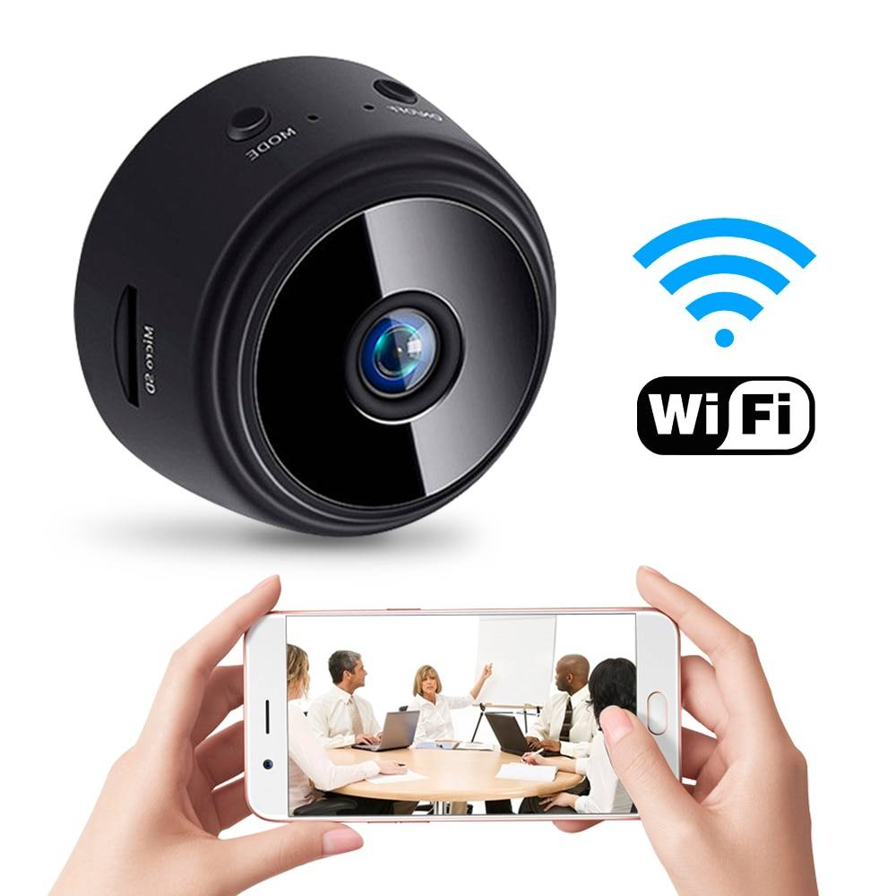 A9 WiFi 1080P Full HD Night Vision Wireless IP Camera Consumer Electronics Color : Black