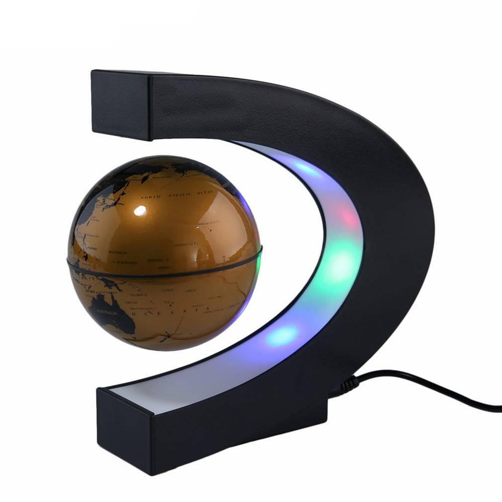 Magnetic Levitating Globe Astrolight Home Goods Color: Yellow Type: US Plug|EU Plug