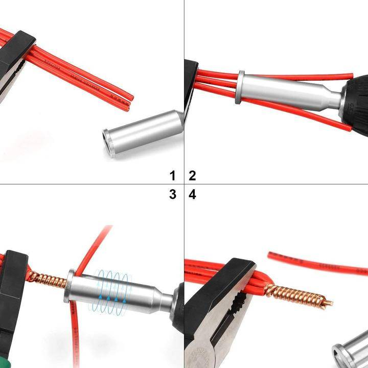 Cable Wire Stripping and Twisting Tool Home Goods Quantity : 1 pack