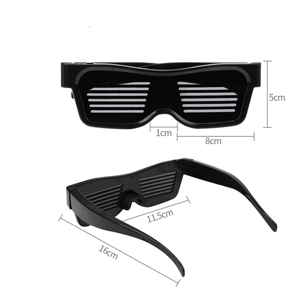 Customized Flashing Cyber Glasses Accessories Color : Orange Red White Blue Green Pink