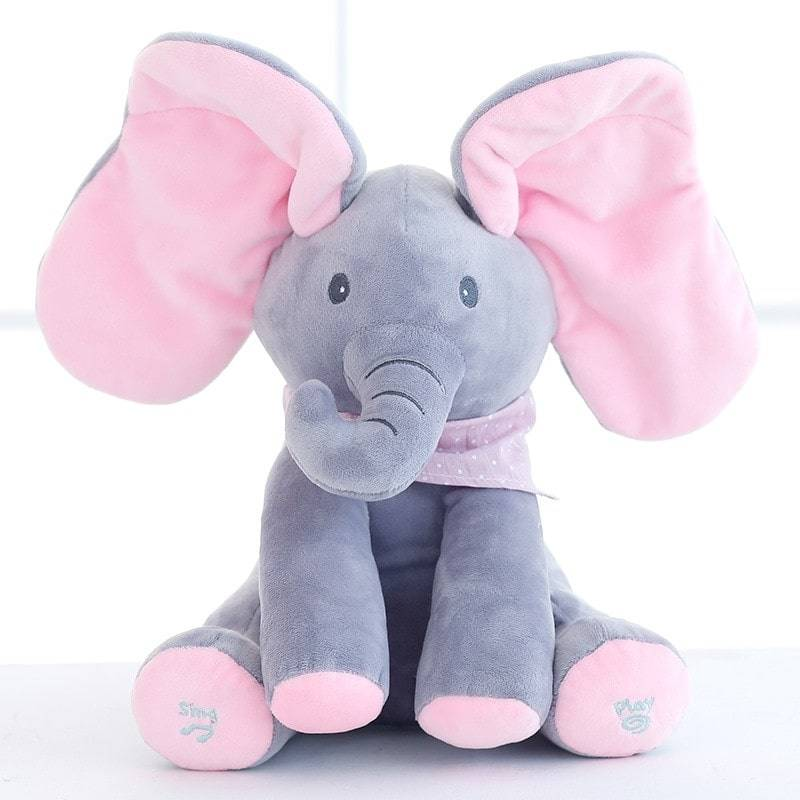 Peek-A-Boo Elephant Toy Best Sellers Toys Color: Pink/Gray
