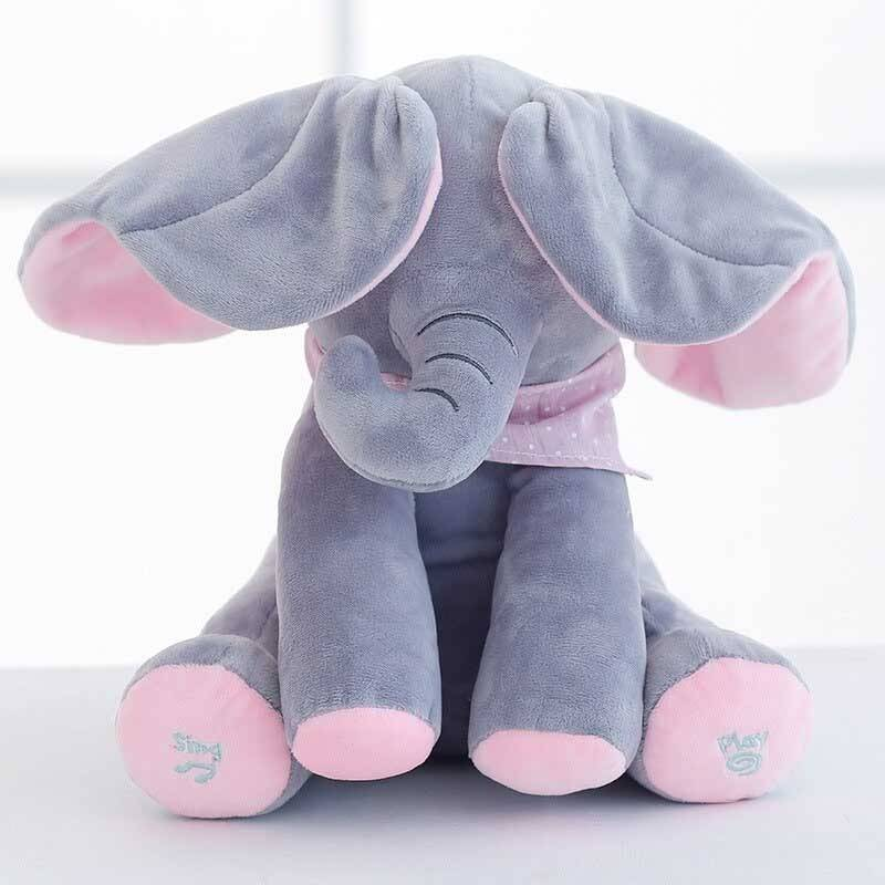 Peek-A-Boo Elephant Toy Best Sellers Toys Color : Gray Pink/Gray Blue/Gray