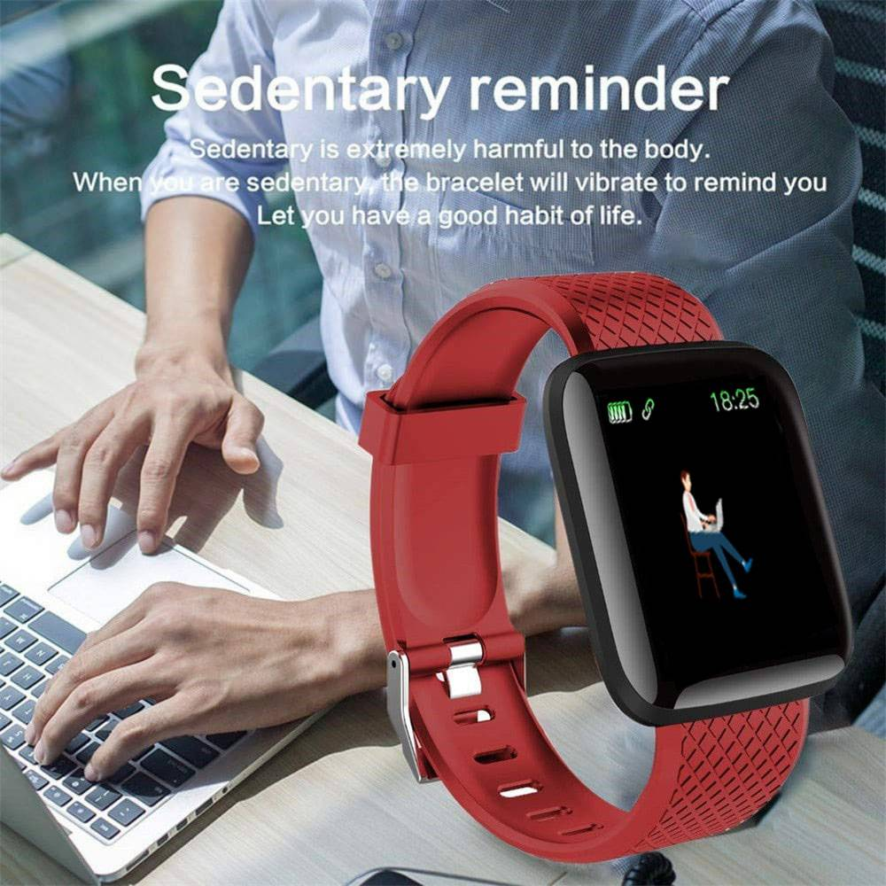 Waterproof Sports Smart Watches Accessories Color : Black|Blue|Green|Red|Purple